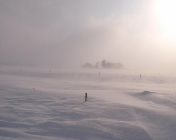Paysage d'hiver avec la Burle